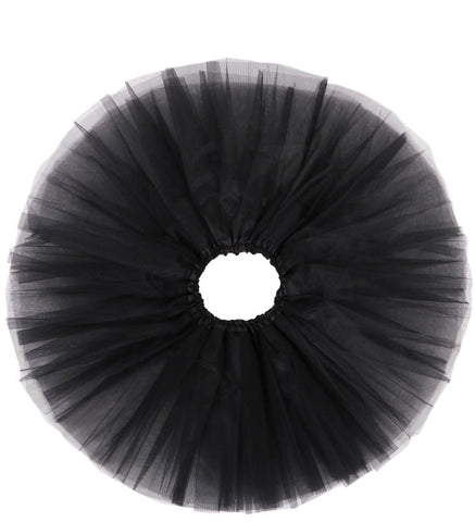 Kids Tulle Tutu Skirt - Black