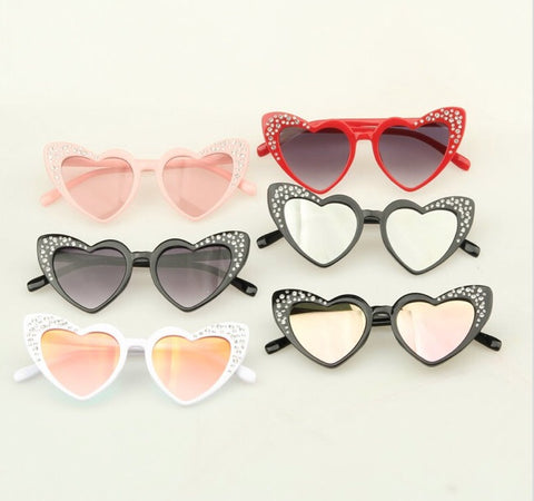 Kids Heart Winged Sunglasses