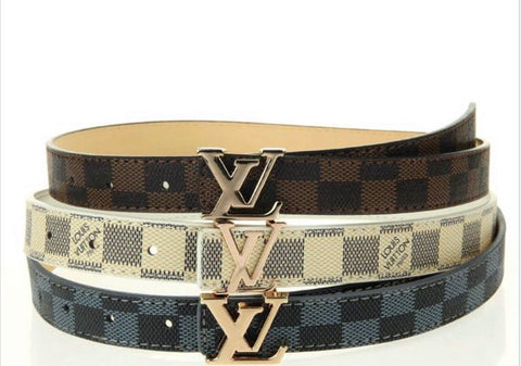 Kids LV Checkered Belt