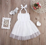 Adeline White and Silver Sparkly Dress