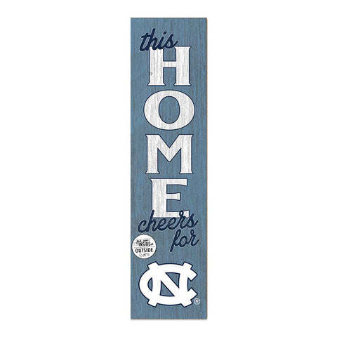 This Home Cheers for UNC Porch Leaner Sign 4 Feet Tall