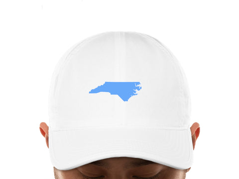 North Carolina Dry Fit Golf Hat in White by Imperial