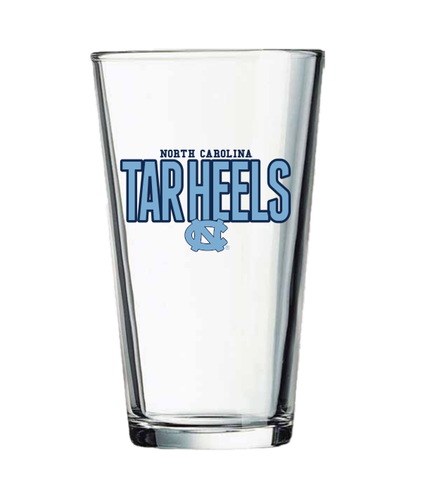 North Carolina Tar Heels Pint Glass 16 oz