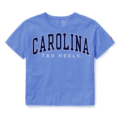 Carolina Blue Womens Crop Top with Carolina Tar Heels Large Logo