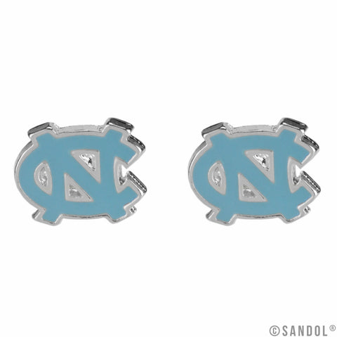 UNC Earrings in Carolina Blue North Carolina Logo Studs