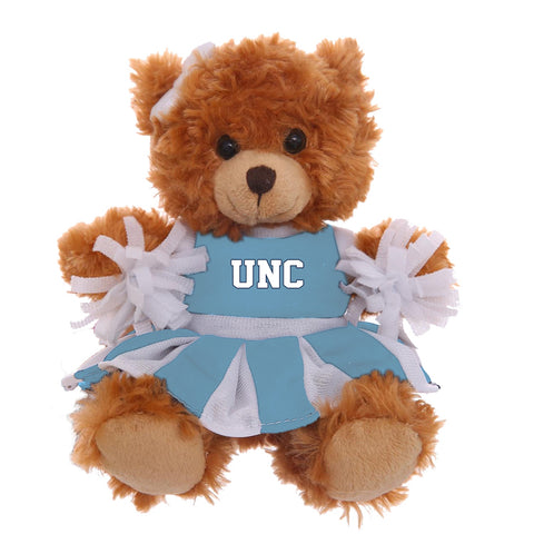 "North Carolina Tar Heels 6"" Mocha UNC Cheerleading Bear"
