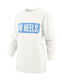 TAR HEELS Big Block White Long Sleeve T-Shirt