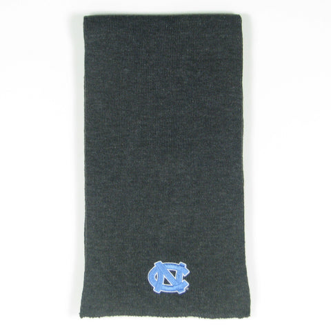 Grey Unisex Scarf with Embroidered Carolina Blue UNC Logo