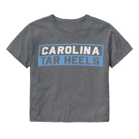Carolina Tar Heels Grey Crop Top