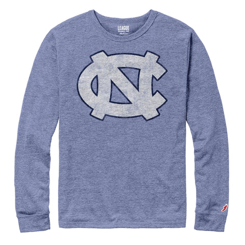 Carolina Blue Long Sleeve Shirt with UNC Tar Heels Logo