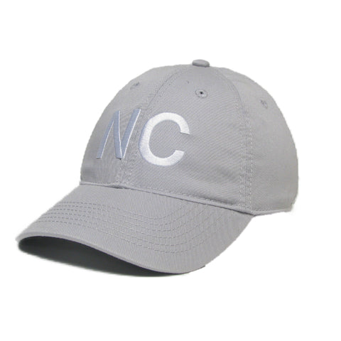 North Carolina Hat in Silver Grey and White