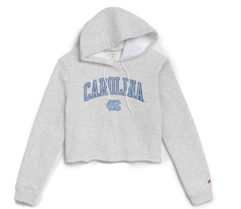 Carolina Cropped Hoodie UNC Sweatshirt for Womens