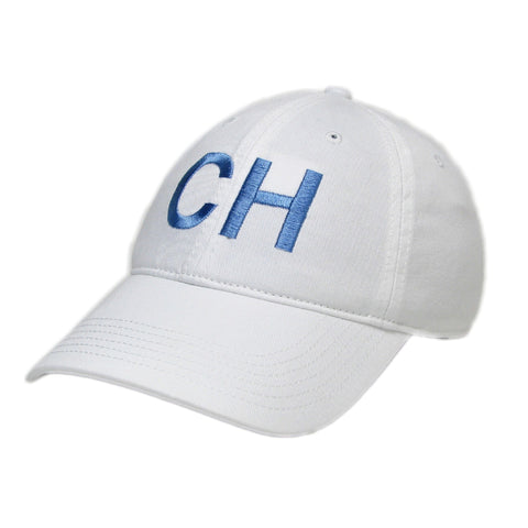 Chapel Hill Hat in White and Carolina Blue