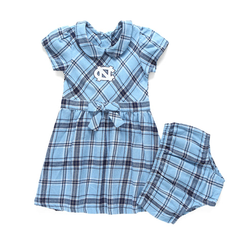 North Carolina Tar Heels Plaid Toddler Dress