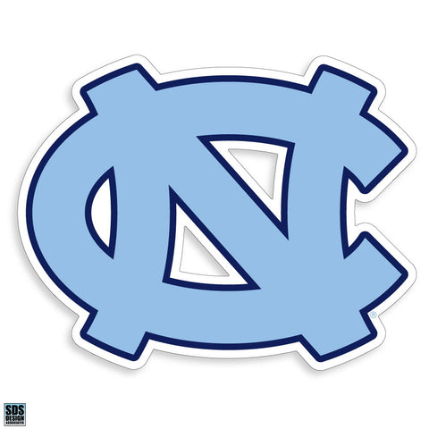 North Carolina Tar Heels Interlock Logo Decal - Carolina Blue