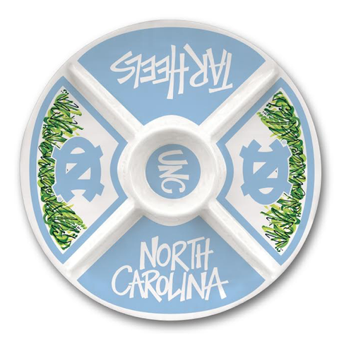 "North Carolina Tar Heels Magnolia Lane 15.5"" Melamine Veggie Serving Dish"