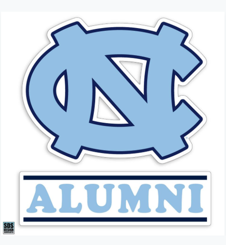 "North Carolina Tar Heels SDS Alumni 3"" Decal"