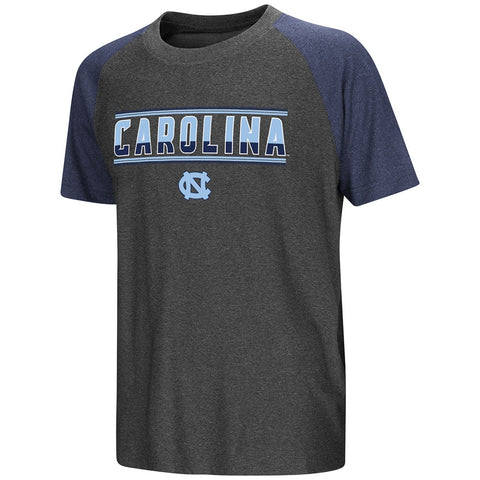 North Carolina Tar Heels Colosseum Scotty Raglan Youth T-Shirt - Charcoal