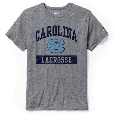 Victory Lacrosse by League - Vintage Grey UNC Lacrosse T-Shirt
