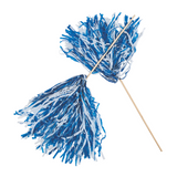 2 Ct Carolina Blue and White Pom Poms