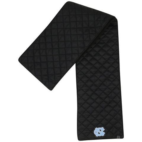 UNC Puffer Scarf in Black - Two Sided