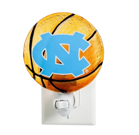 UNC Tar Heels Evergreen Basketball- Glass Night Light