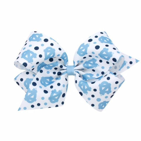 North Carolina Tar Heels Wee Ones Signature Collegiate Print Hair Bow