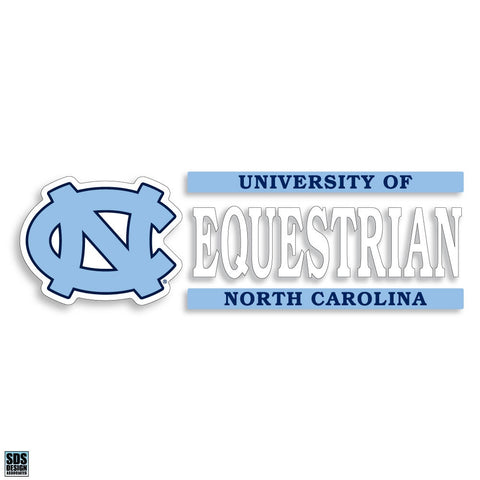 University of North Carolina Equestrian Decal