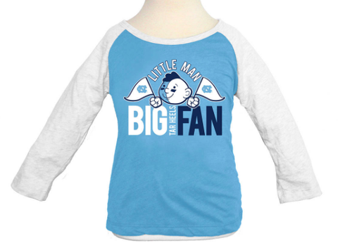 North Carolina Tar Heels Klutch Little Man Big Fan Raglan Long Sleeve