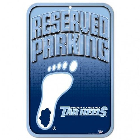 North Carolina Tar Heels Reserved Parking Sign