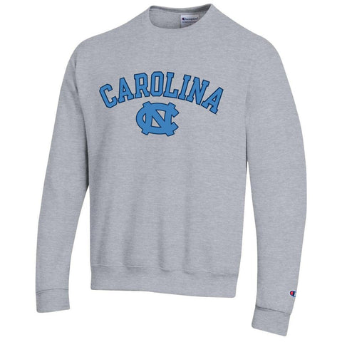 Grey UNC Crewneck Sweatshirt by Champion