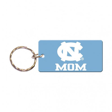 UNC Mom Keychain Rectangle Key Ring Carolina Mom by Wincraft