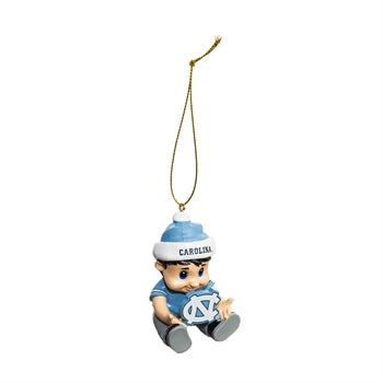 Evergreen Lil Tar Heel Fan UNC Christmas Ornament