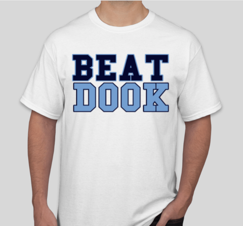 Self Print White Beat Dook T-Shirt