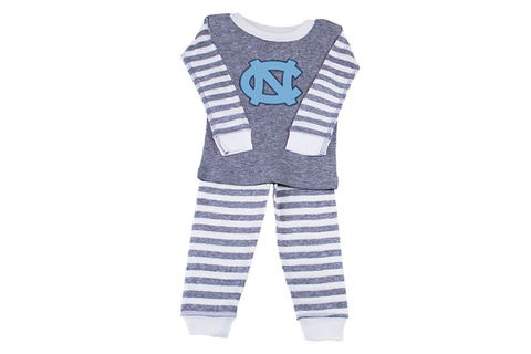 Two Feet Ahead Striped Carolina Toddler Pajamas