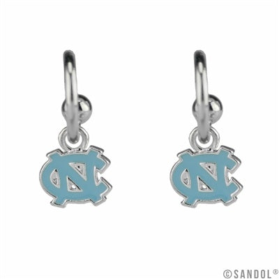 North Carolina Tar Heels Sandol Dangle Logo Earrings