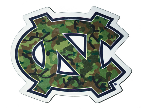 North Carolina Tar Heels Camo NC Interlock 3 Inch Magnet