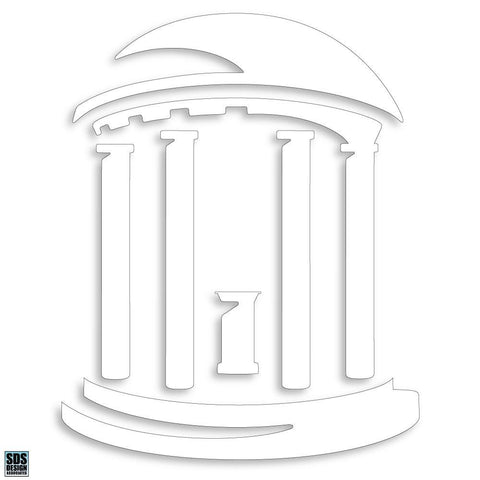 UNC White Old Well Decal Sticker 3""