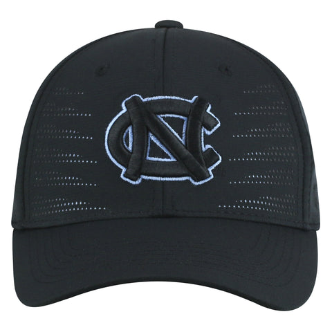 North Carolina Tar Heels Top of the World Black Dazed One Fit Adult Hat