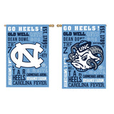 North Carolina Tar Heels Evergreen Fan Rules Double Sided UNC House Flag