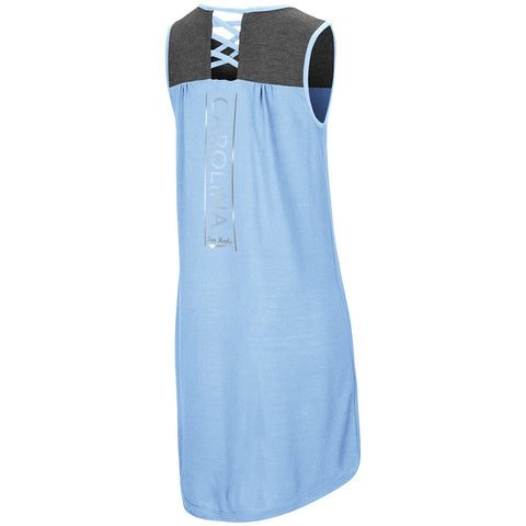 North Carolina Tar Heels Colosseum S'more Strappy Back Tank Girl's Dress - Carolina Blue