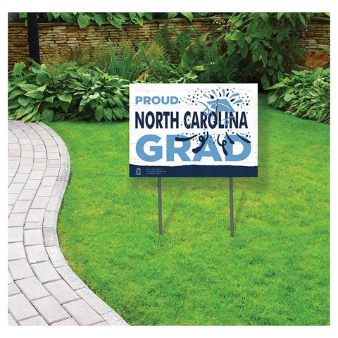 "UNC Lawn Sign ""Proud North Carolina Grad"""