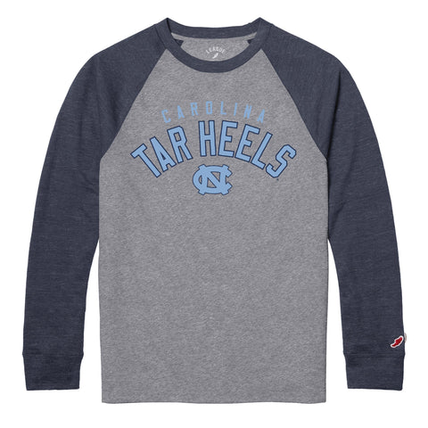 Line Up by League - Carolina Tar Heels Baseball Long Sleeve T-Shirt
