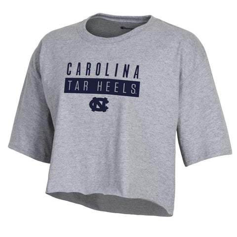 Grey Bar Champion Carolina Tar Heels Cropped Tee