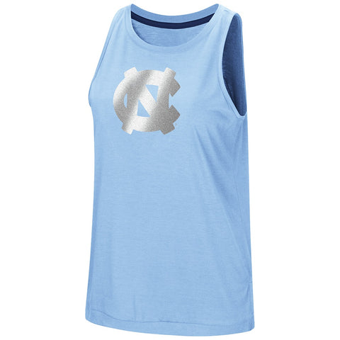 North Carolina Tar Heels Colosseum Women's Bet on Me Muscle Tank - Carolina Blue - Front