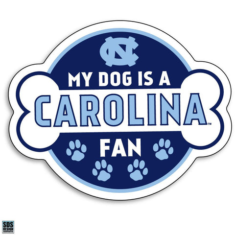 UNC Tar Heels My Dog is a Carolina Fan Decal Sticker 6""
