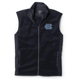 UNC Men's Fleece Vest - Navy Full Zip Reclaim Vest