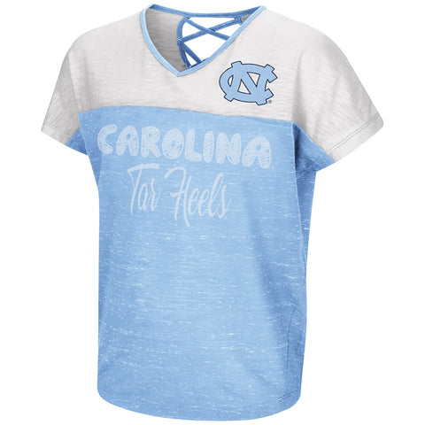 North Carolina Tar Heels Palledorous Dolman Girl's Tee - Carolina Blue