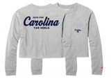 Carolina Tar Heels Ash Grey Cropped Pocket Long Sleeve