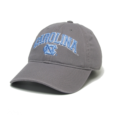 UNC Hat in Grey with Main Event Carolina Tar Heels Logos